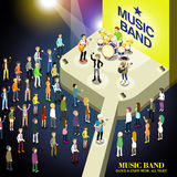 Music band concert concept Stock Image