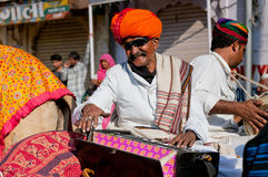 Music band of elderly Rajasthan musicians Stock Image