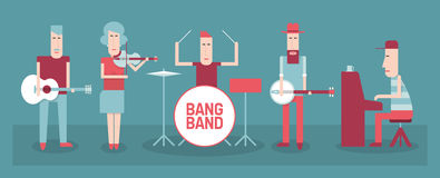 Music band royalty free illustration