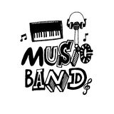 Music Band hand drawn vector illustration. Royalty Free Stock Photography