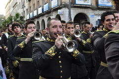 Music band in Holy Week Stock Image