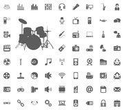 Music band icon. Media, Music and Communication vector illustration icon set. Set of universal icons. Set of 64 icons.  Vector Illustration