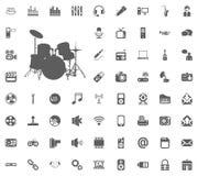 Music band icon. Media, Music and Communication vector illustration icon set. Set of universal icons. Set of 64 icons.  Stock Photos