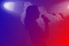 Music band Jazz. Vocalist player performance,halftone pattern texture royalty free stock photography