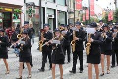 Music band on pedestrian street Stock Image