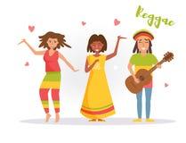 Music band reggae. Vector. Royalty Free Stock Image