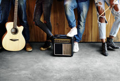 Music Band Rehearsal Friendship Together Stock Images