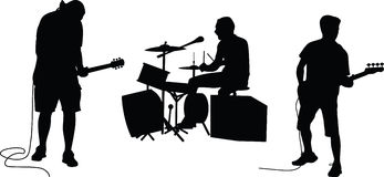 Music band silhouette  Stock Images
