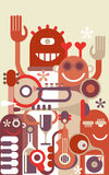Music Band vector illustration Stock Images