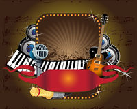 Music banner Royalty Free Stock Image