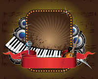 Music banner Stock Image