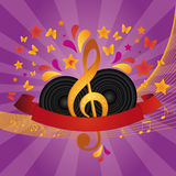 Music Banner Royalty Free Stock Photo