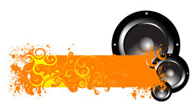 Music banner Royalty Free Stock Photography