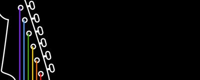 Music banner. An illustration of a guitar Stock Illustration