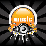 Music Banner. Stylish music banner illustration with dark background Stock Photo