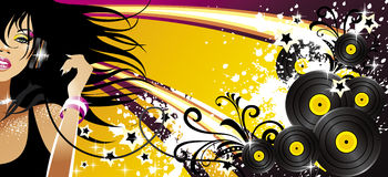 Music banner. For music site Stock Image