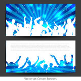 Music Banner Collection - Vector. With place for your text Stock Photos