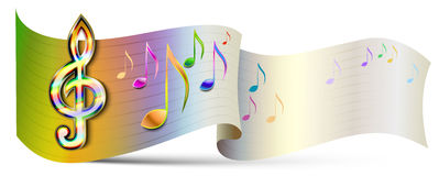 Vector Music banner Stock Photography