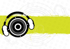 Music banner design Royalty Free Stock Photography