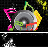Music banner grunge style Stock Photography