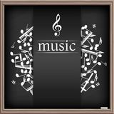 Music banner with shadow Royalty Free Stock Photo