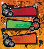 Music banners Royalty Free Stock Image