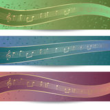 Music banners Stock Images
