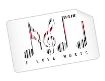 Music bar code Stock Image