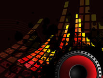 Music bar with sound-speaker Royalty Free Stock Images