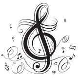 Music beat. Abstract funky musical notes design Stock Images