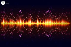 Music beat vector. Green lights background. Abstract equalizer. Sound Wave. Audio equalizer technology. Detailed vector bokeh. Spa Royalty Free Stock Photo