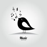Music bird Royalty Free Stock Photography