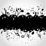 Music  black blot background Stock Photo
