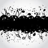 Music  black blot background Stock Photo
