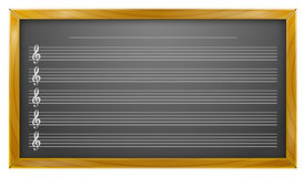 Music, Blackboard, Music Education, Backgrounds Stock Image