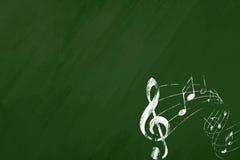Music blackboard royalty free stock photography