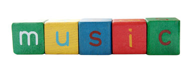'music' in block letters Royalty Free Stock Images