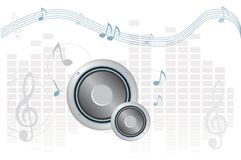 Music in blue Stock Photo