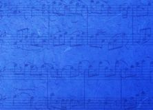 Music blue background Royalty Free Stock Photos