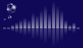 Music blue equalizer Royalty Free Stock Image