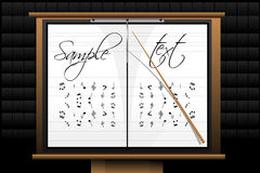 Music board Royalty Free Stock Images