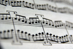 Music Book. Close up of a music book with blured fieldview Royalty Free Stock Photography