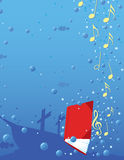 Music book. Sinking deep in the ocean. Can be used for musicals or other poster/flyer ideas Stock Images