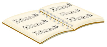 A music book Royalty Free Stock Photo