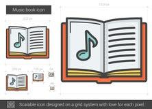 Music book line icon. Stock Image