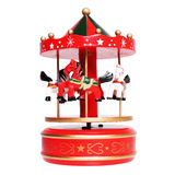 Music box carousel with horses Royalty Free Stock Image