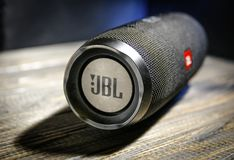 Music box jbl charge 3 stock photo