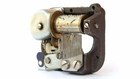 Music box mechanism Stock Image