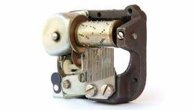 Music box mechanism stock video footage