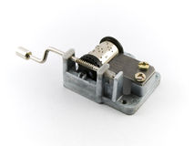 Music Box Mechanism on White Background Stock Image